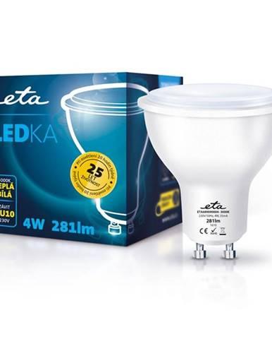 LED žiarovka ETA EKO LEDka bodová, 4W, GU10, teplá biela
